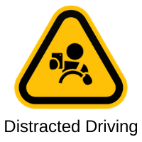 distracted driving icon
