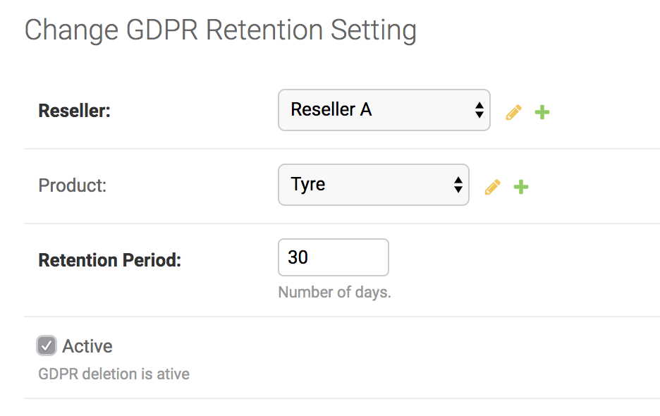 GDPR Data retention