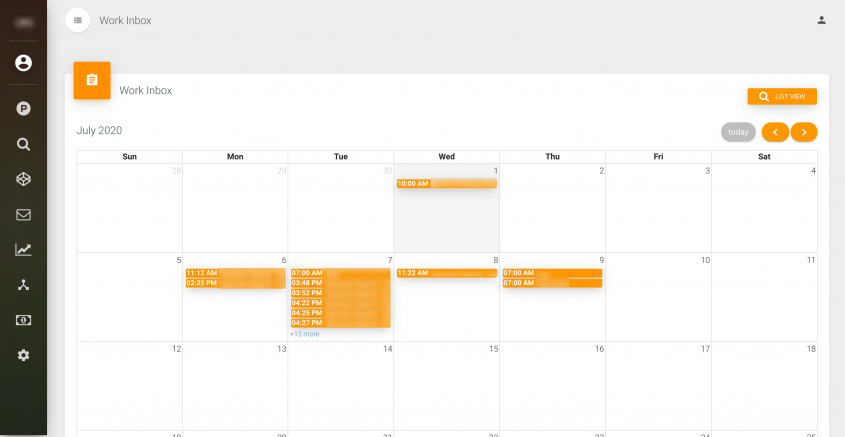 workinbox calendar