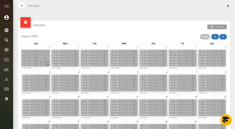 activity calendar view