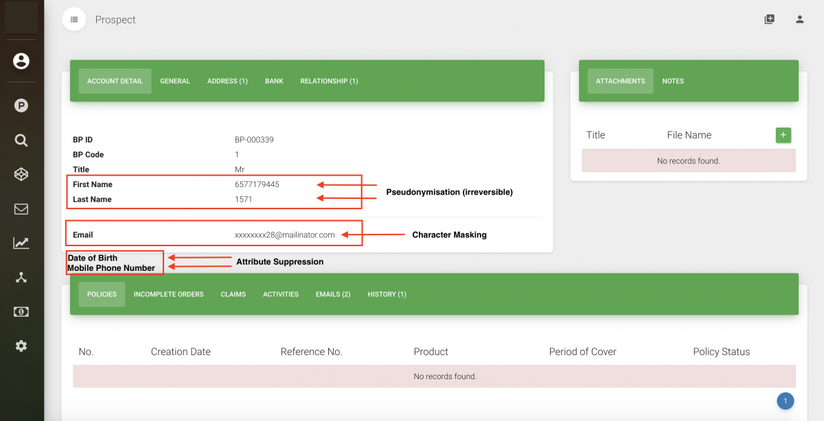 gdpr compliance screen