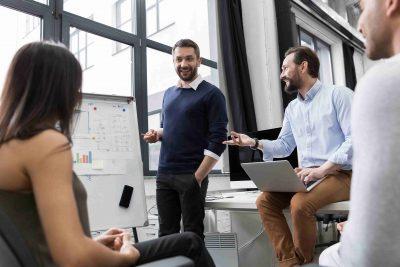 digital business staff meeting