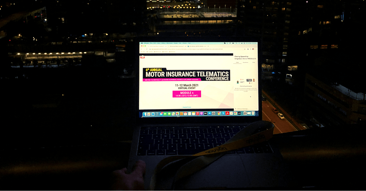 telematics event on laptop